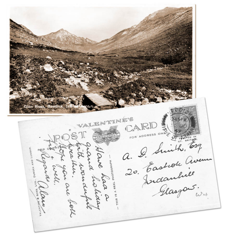 Glen Rosa Isle of Arran Postcard
